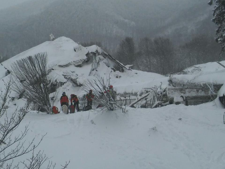 Il Piemonte in centro Italia per fronteggiare l'emergenza neve