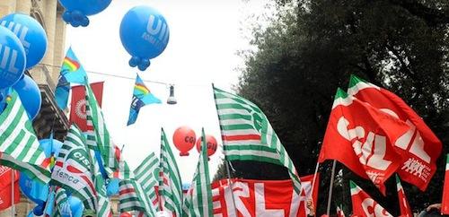 Cgil Csil e Uil piemontesi scendono in piazza contro la Legge di Stabilità