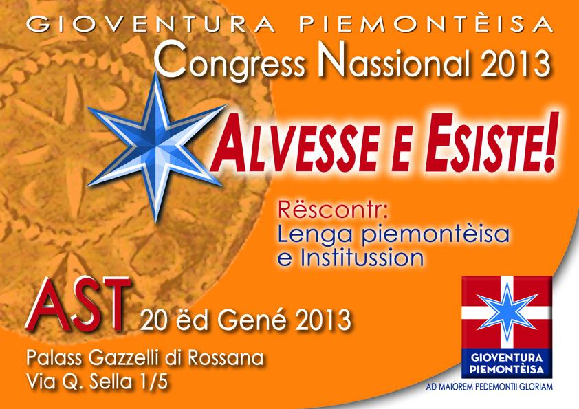 Congresso di «Gioventura Piemontèisa» ad Asti
