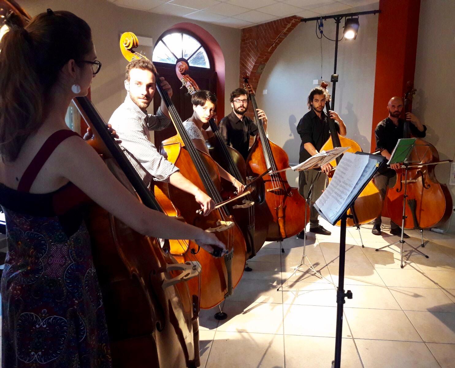 Recital solistico della classe di contrabbasso alla Casa della Musica di Portacomaro