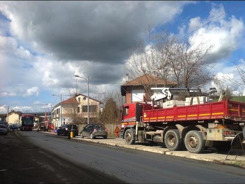 Iniziati i lavori per le due rotonde in corso Ivrea
