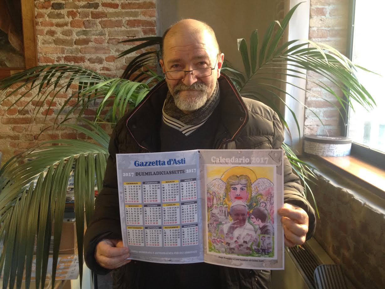 Con la Gazzetta d'Asti in omaggio agli abbonati il calendario di Cosimo Gatti
