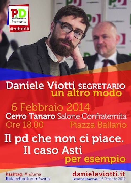 Daniele Viotti ad Asti per parlare di Partito Democratico