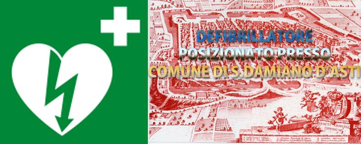 Defibrillatore a San Damiano