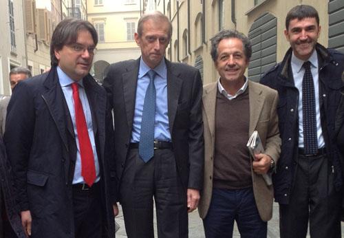 Sala Pastrone affollata per l'intervento di Piero Fassino ad Asti