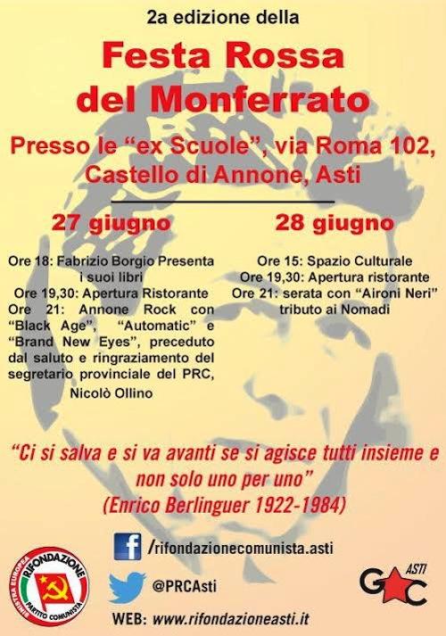 A Castello di Annone la seconda Festa Rossa del Monferrato