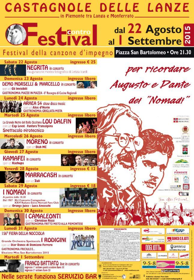 Nomadi, Lou Dalfin e Franco Battiato al Festival Contro