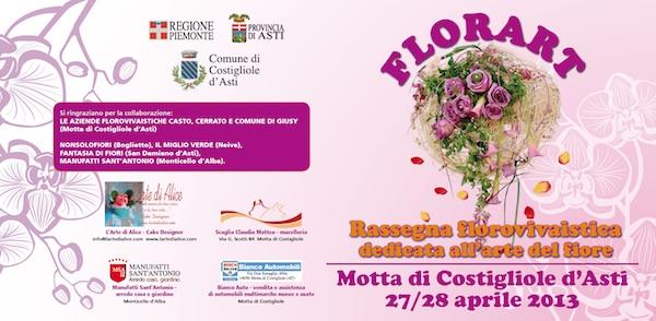 A Motta di Costigliole torna la rassegna dedicata all'arte del fiore