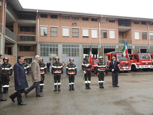 Cerimonia ufficiale alla caserma dei vigili del fuoco astigiani