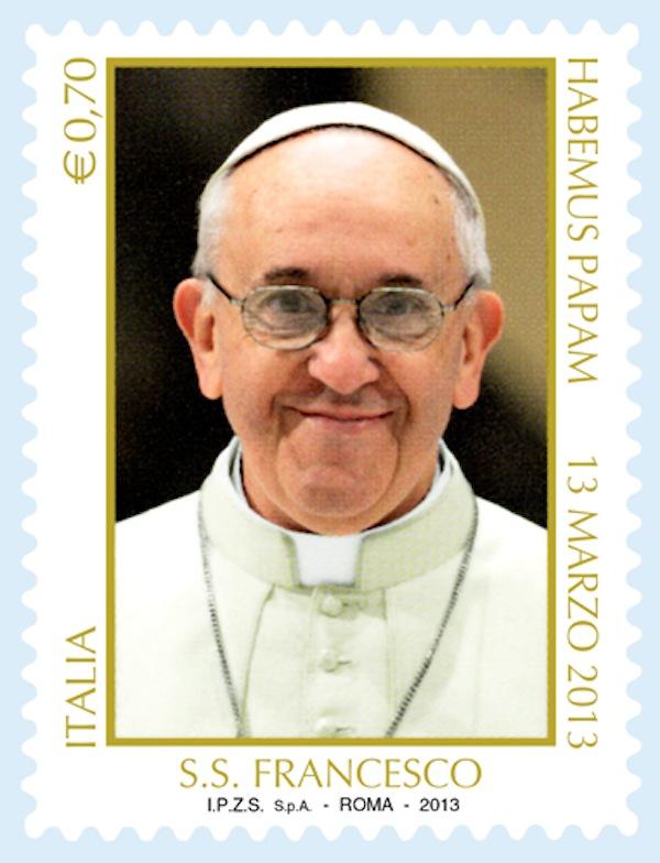 Papa Francesco approda sui francobolli postali
