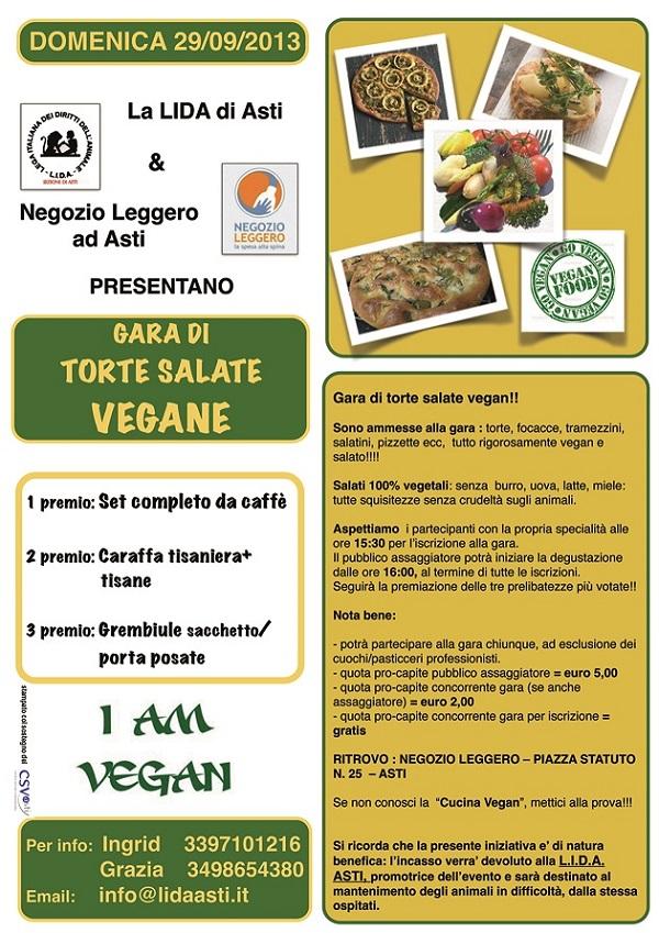 Gara di torte salate vegan al Negozio Leggero di Asti