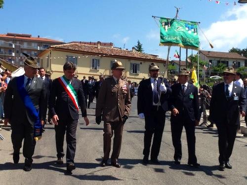 Asti a L'Aquila per raccogliere la stecca dell'Adunata degli Alpini