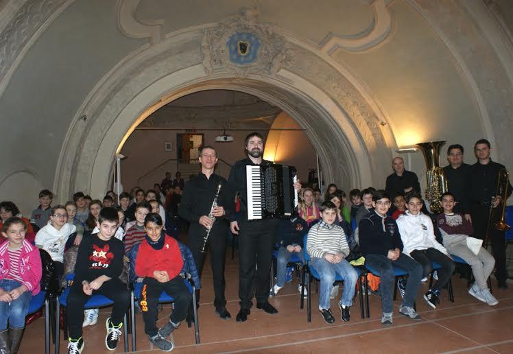studenti e musicisti oggi all'Archivio di Stato