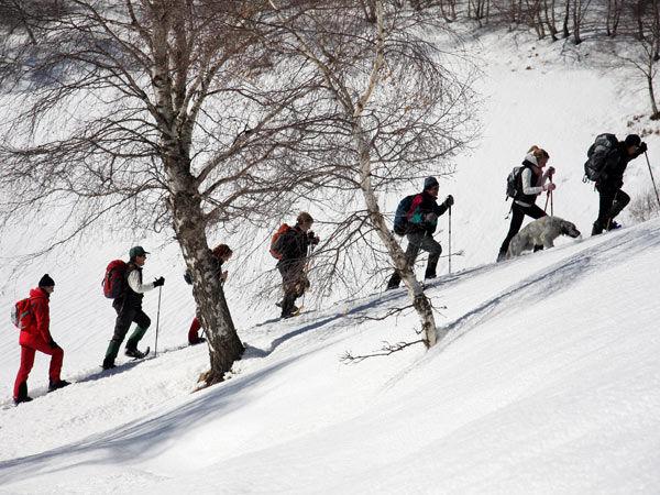 Domenica gita con racchette da neve con il Cai a Punta Razil