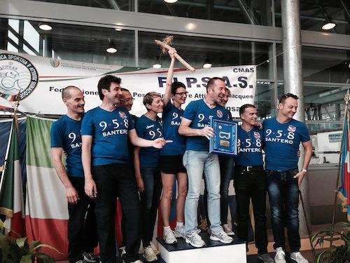 L'Asti Blu Santero 958 campione d'Italia di apnea indoor