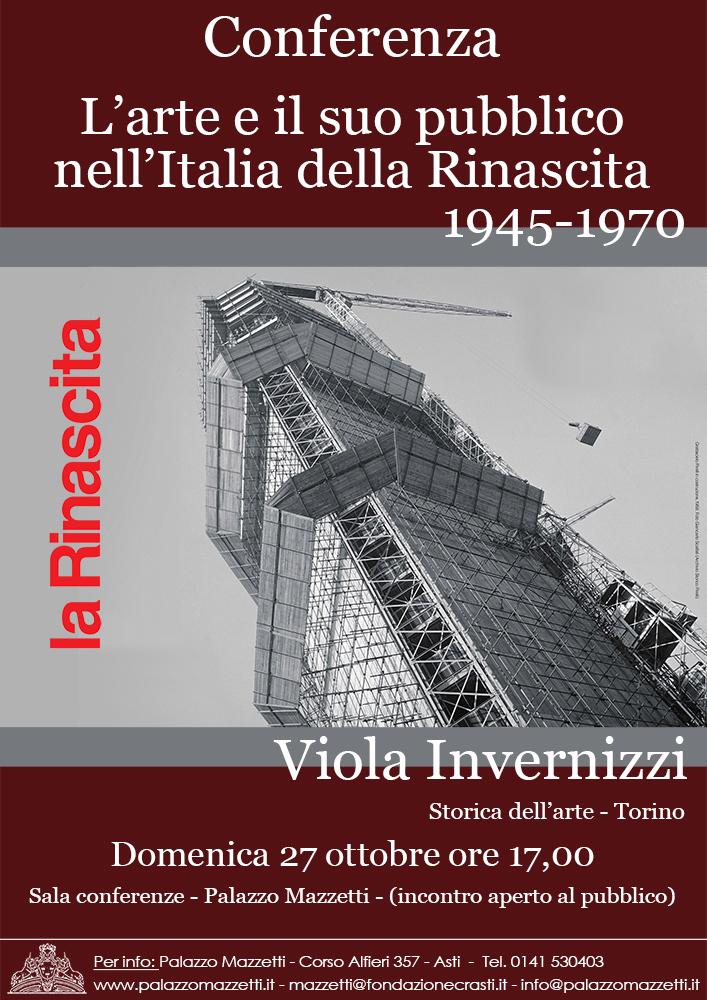 1945-1970: l'arte e il suo pubblico in Italia, domenica, a Palazzo Mazzetti