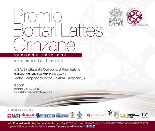A Monforte e Torino si conclude  il Premio Bottari Lattes Grinzane 2012