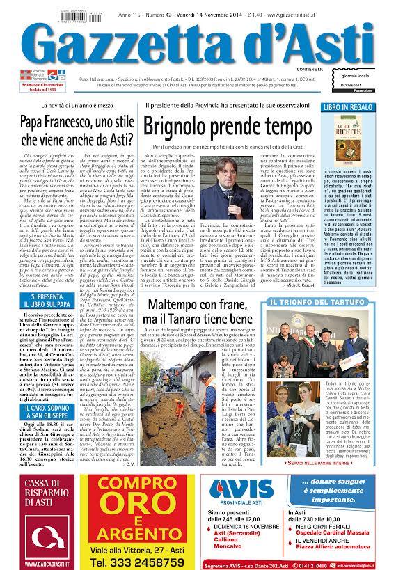 Prima pagina – 14 novembre 2014