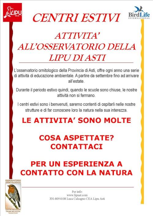 La Lipu di Asti ospita i centri estivi