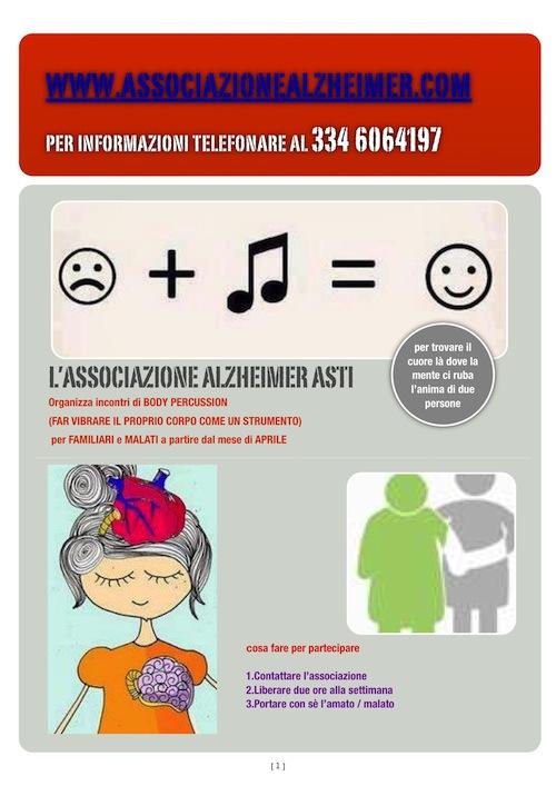 """Ad Asti lezioni di """"body percussion"""" per convivere con l'alzheimer"""