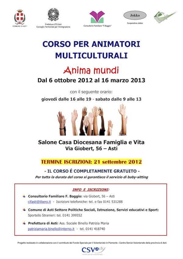 """""""Anima Mundi"""" ad Asti un corso per animatori multiculturali"""