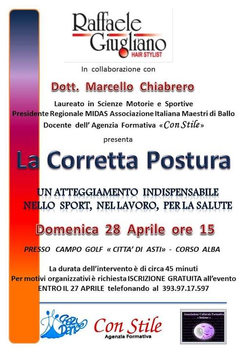 """Incontro """"La corretta postura"""" al Golf Club Città di Asti"""