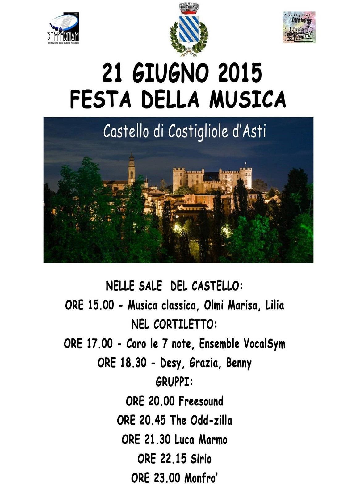 """""""Festa della Musica"""" a Costigliole d'Asti"""
