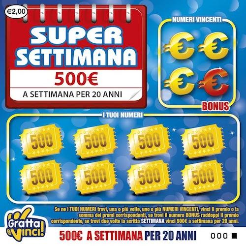Gratta e vinci premia Asti con una super vincita da 500 euro a settimana per 20 anni
