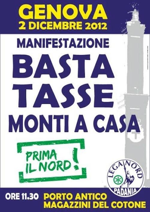 Un pullman da Asti per la manifestazione della Lega Nord a Genova