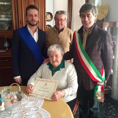 Maria Barberis è la prima centenaria del 2016