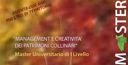 Iscrizioni ancora aperte al Master in Management e creatività dei Patrimoni Collinari