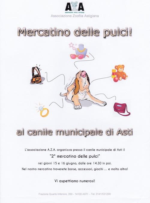 Al canile di Asti il mercatino delle pulci dell'Aza