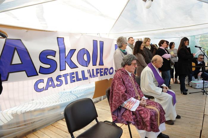 In tanti alla messa di solidarietà per i lavoratori Askoll