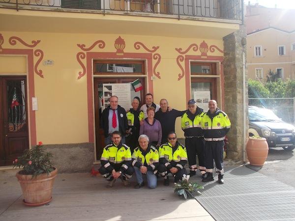 Volontari della Protezione Civile di Asti a Monterosso