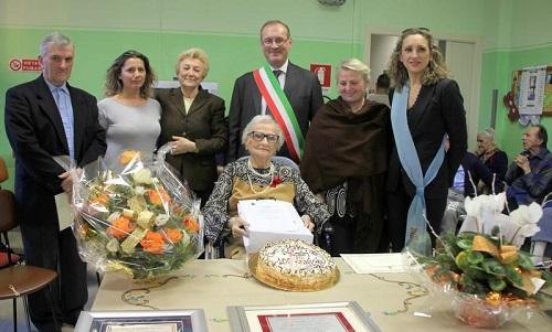 Festeggiata a Montechiaro l'ultima patriarca del 2015