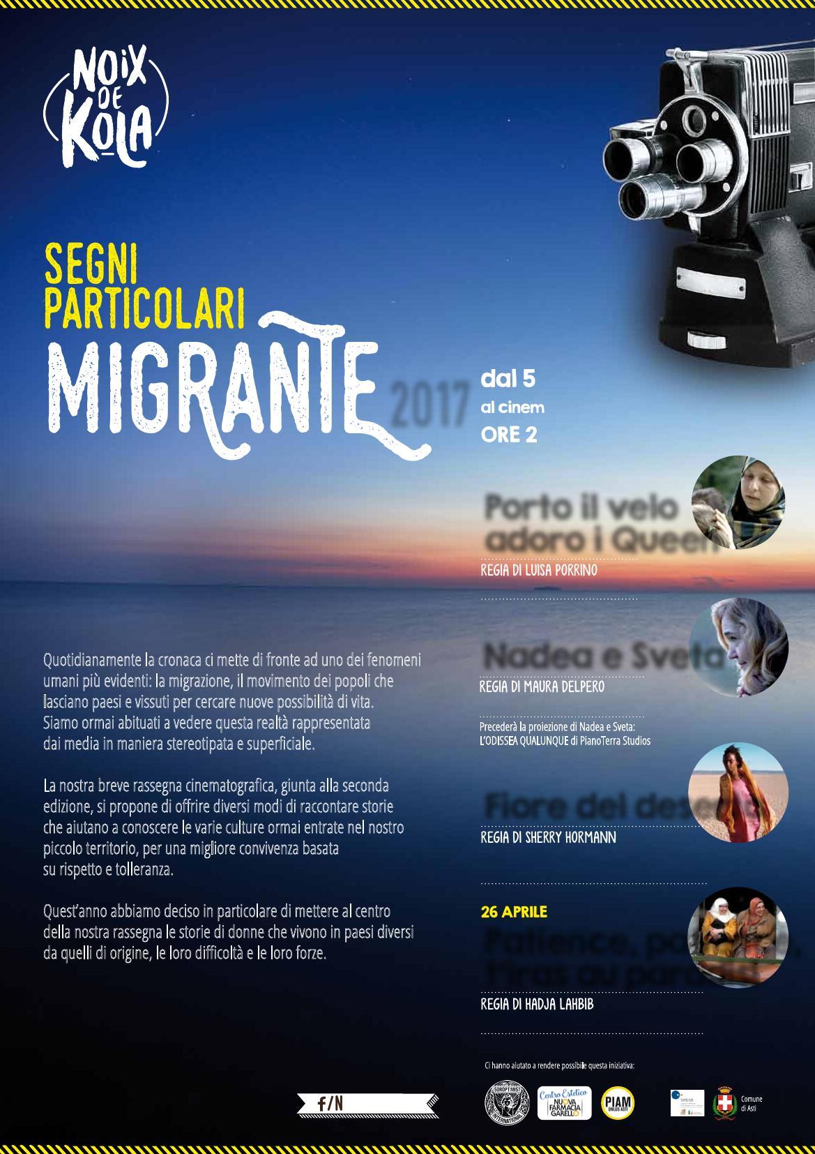 """""""Segni particolari: Migrante"""" la rassegna al Cinema Lumiére"""