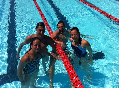 Gli azzurri del nuoto a Torino