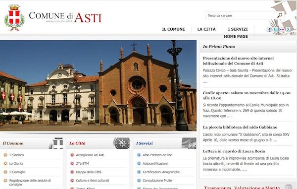 Nuovo sito internet per il Comune di Asti