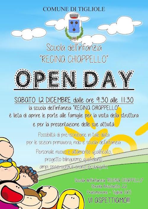 Open Day alla scuola dell'infanzia Regina Chiappello