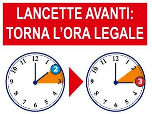 Lancette in avanti: scatta l'ora legale