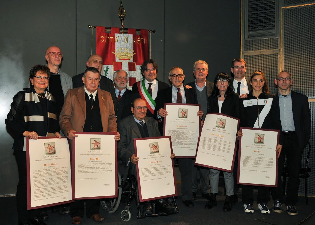 In Sala Pastrone la cerimonia di consegna dell'Ordine di San Secondo