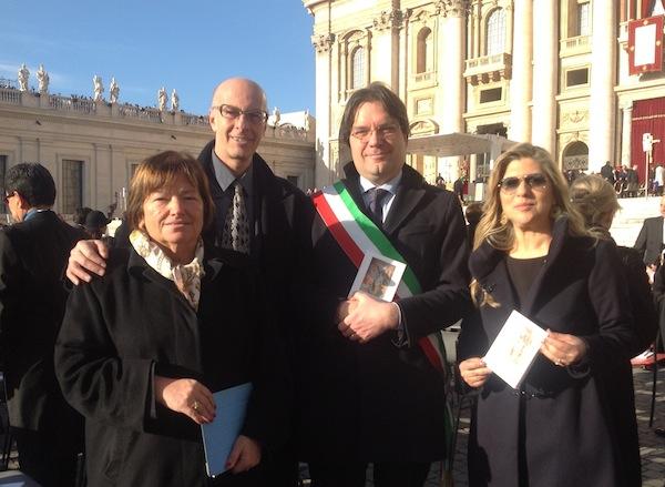 Delegazione astigiana alla prima messa di papa Francesco