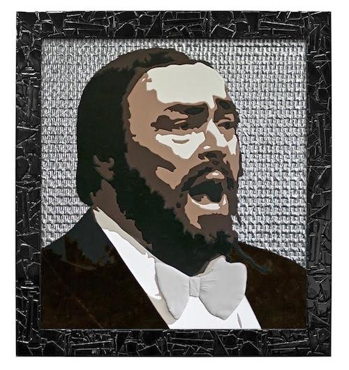 Gerlando Colombo, un quadro pop art per ricordare Luciano Pavarotti