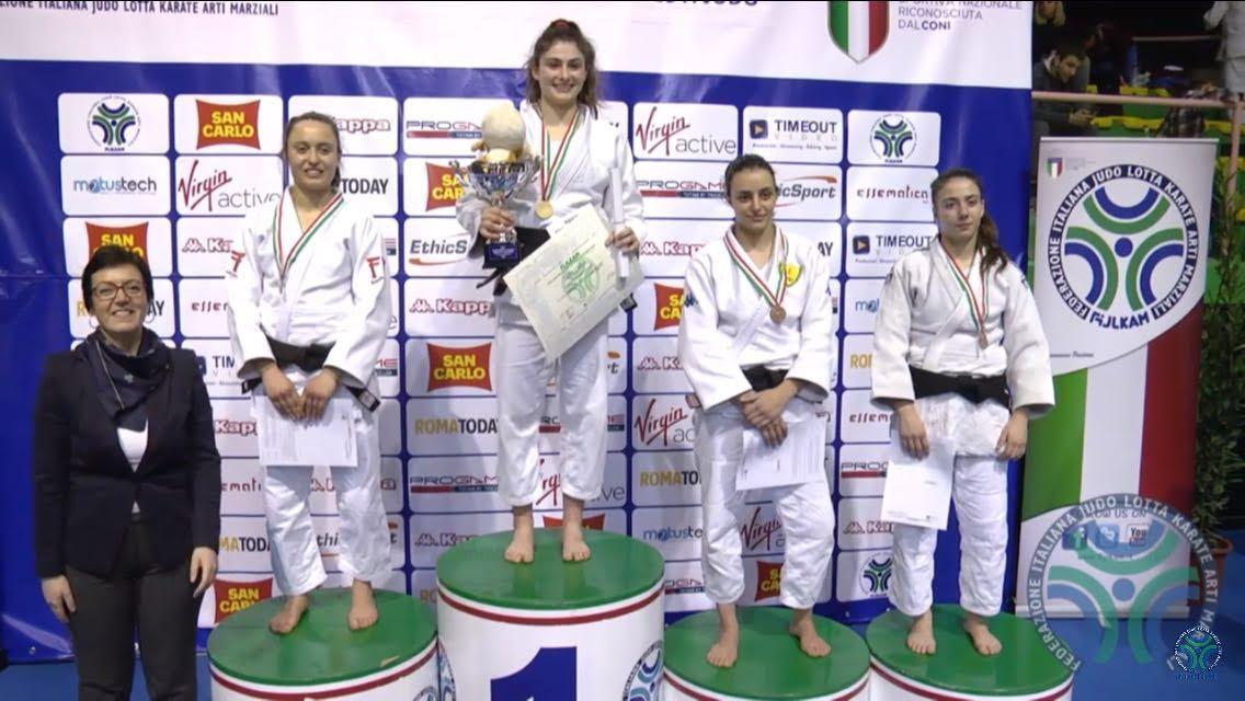Silvia Pellitteri si laurea campionessa italiana assoluta di judo