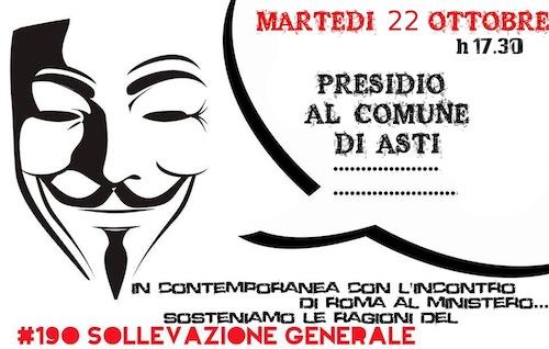 Diritto all'abitare: presidio in piazza San Secondo