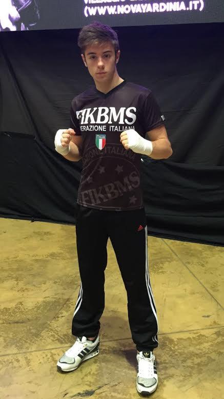 Leonardo Poggio titolare della nazionale italiana di kick boxing