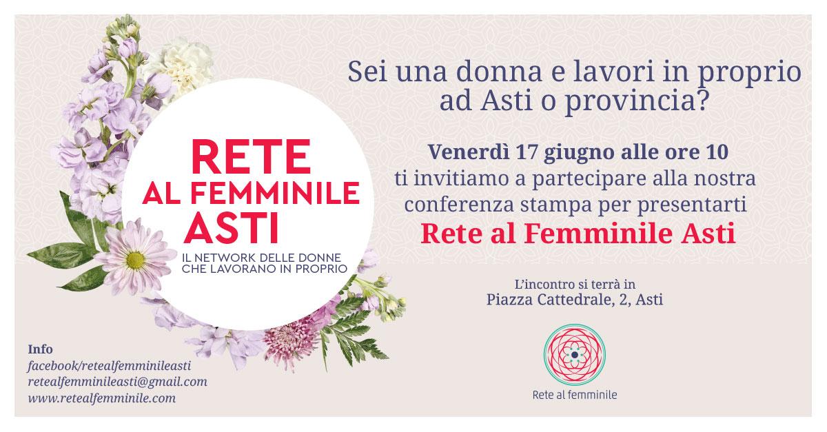 """Si presenta ad Asti """"Rete al Femminile"""""""