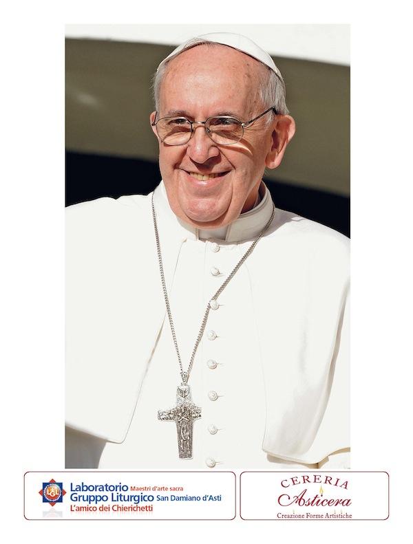 L'immagine di papa Francesco in omaggio con la Gazzetta d'Asti