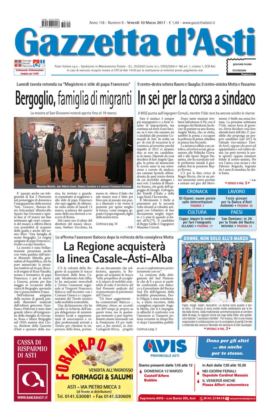 Prima pagina – 10 marzo 2017