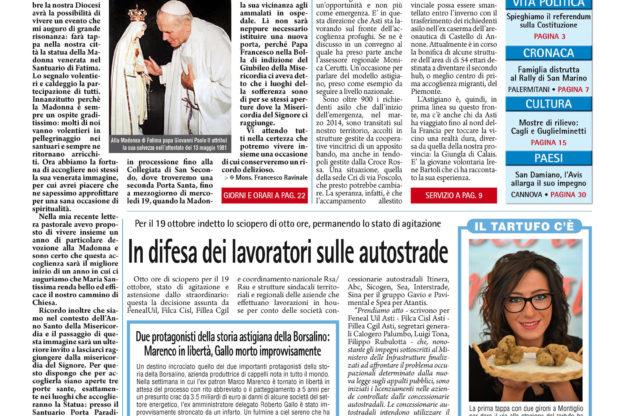 Prima pagina – 14 ottobre 2016